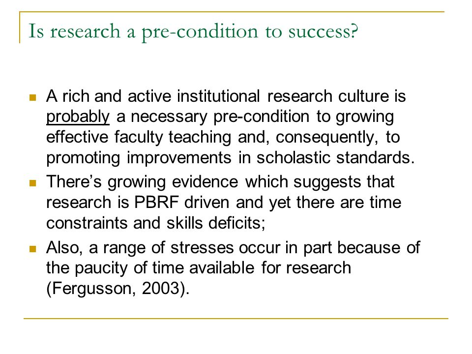 Is research a pre-condition to success.