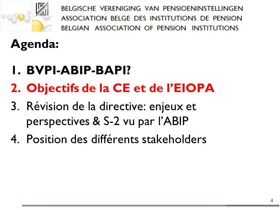 Agenda: 1.BVPI-ABIP-BAPI.