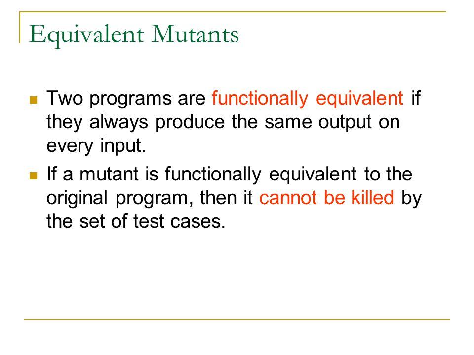 Distribution of Mutation Operators