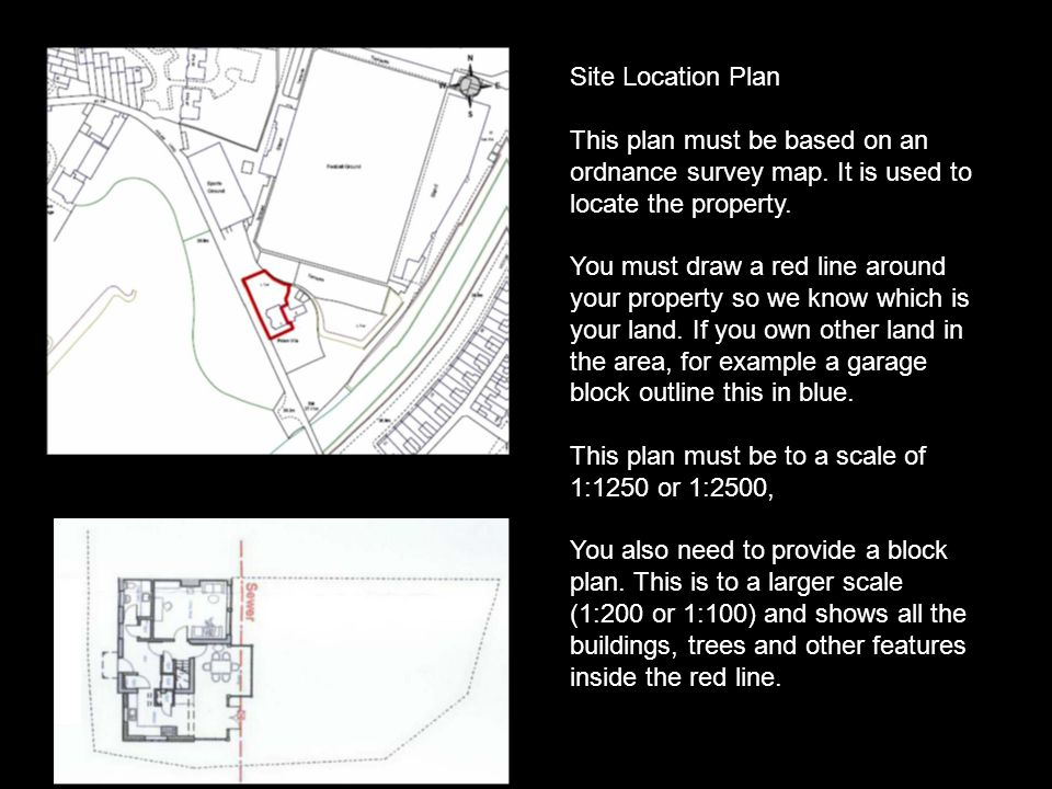 Site Location Plan This plan must be based on an ordnance survey map.