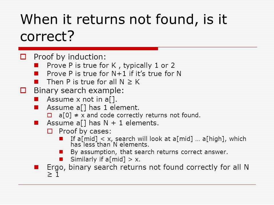 When it returns not found, is it correct .