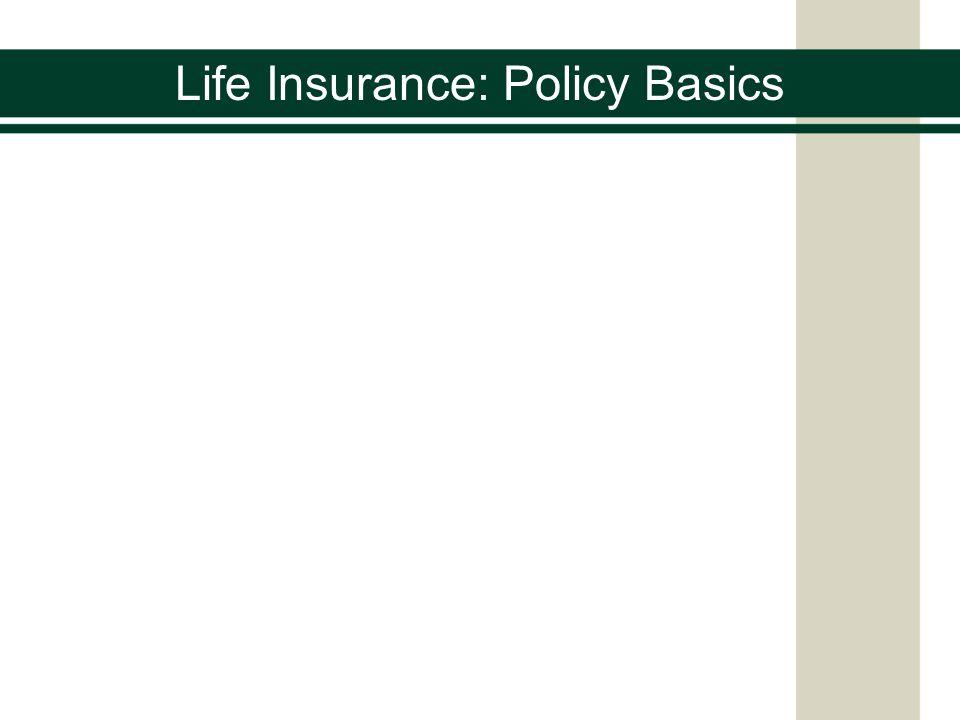 Life Insurance: Policy Basics