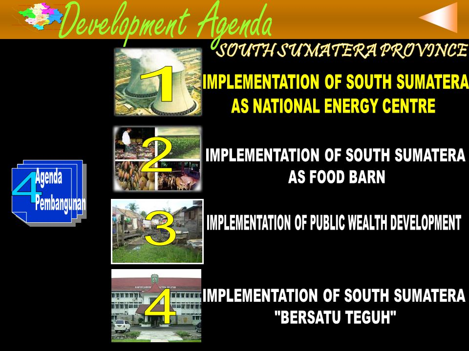 1.Increasing Coal Production and Utilization 2.Increasing Natuiral Gas Production and Utilization 3.Reneweable Energy Utilization 4.New Power Plant and Transmission Development 5.Rural Electrician Development 6.Human Resource Development