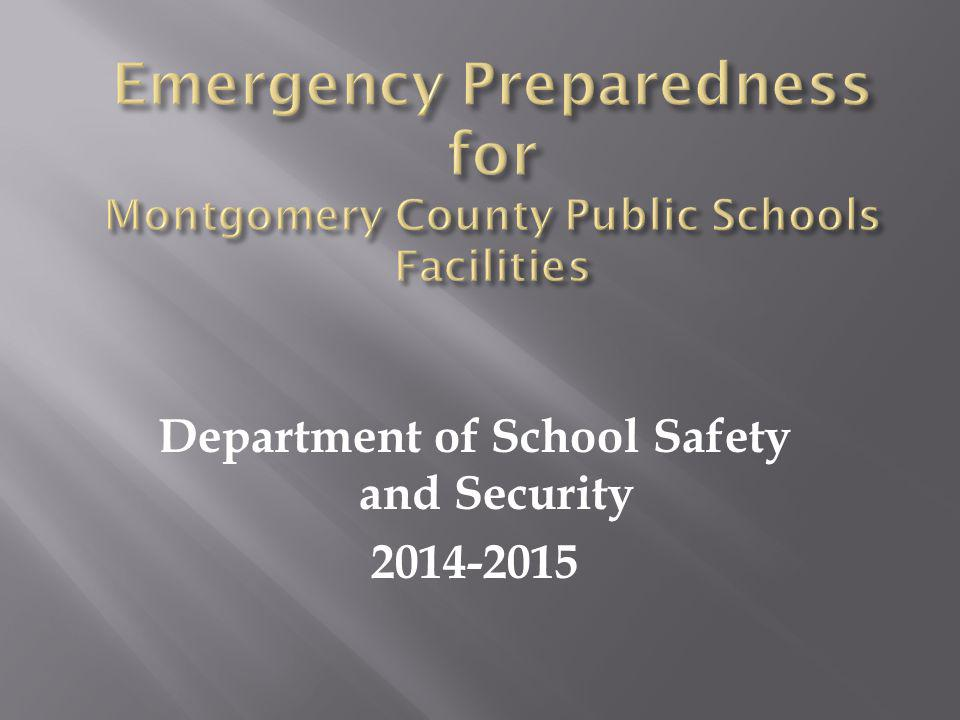 Department of School Safety and Security 2014-2015