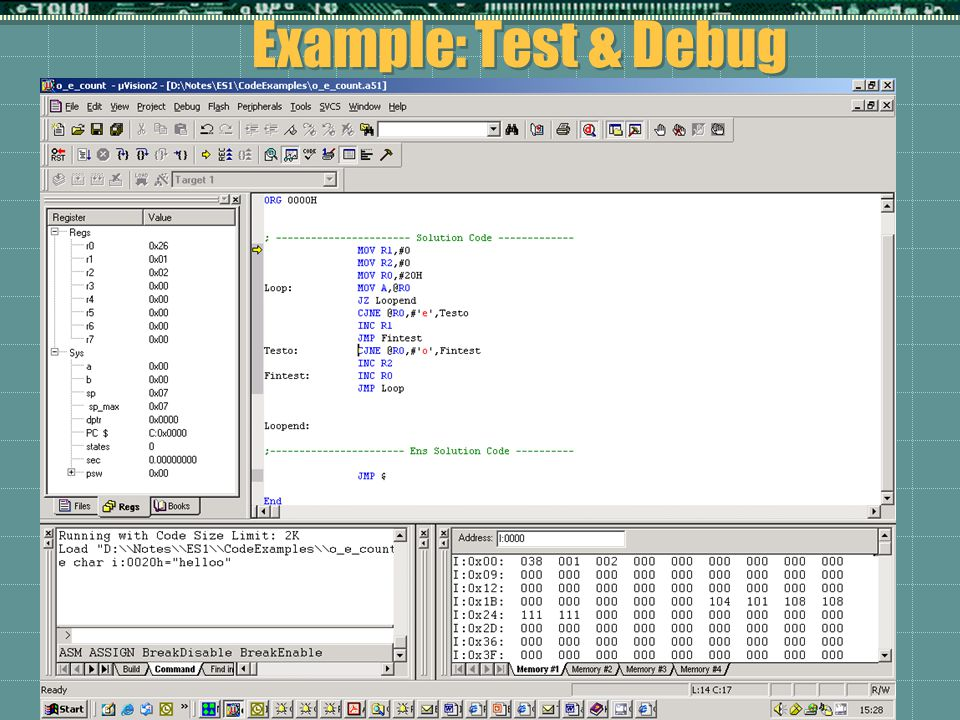 Example: Test & Debug