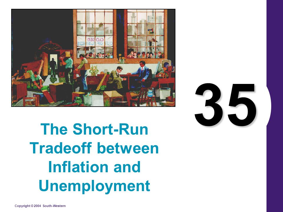 Copyright © 2004 South-Western Rational Expectations and the Possibility of Costless Disinflation Expected inflation explains why there is a tradeoff between inflation and unemployment in the short run but not in the long run.