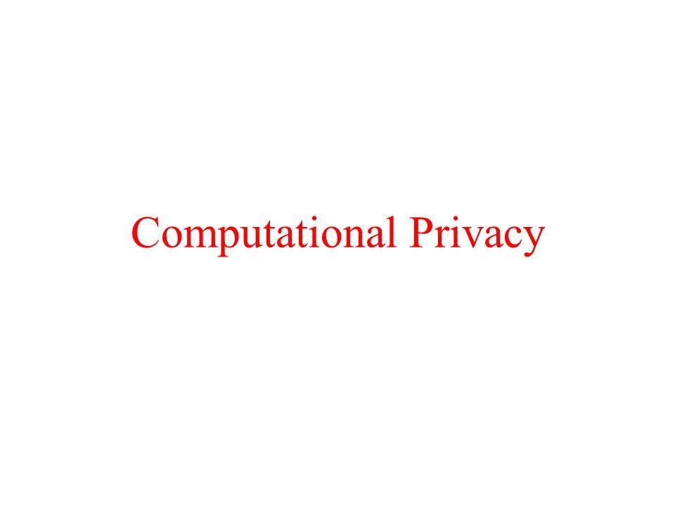 Computational Privacy