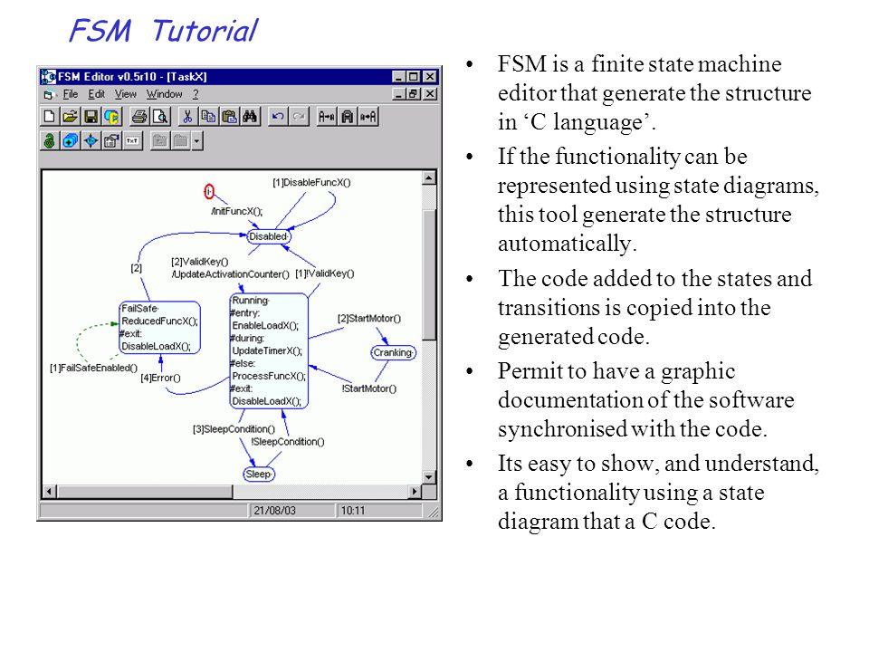 FSM Tutorial-Menus & buttons Menu - File(1/2): New:opens a new diagram.