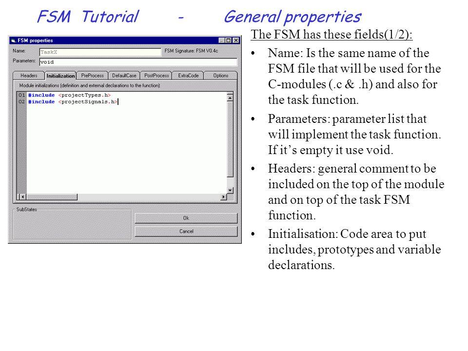 FSM Tutorial-Menus & buttons Menu - View: Toolbar: Hide or show the toolbar.