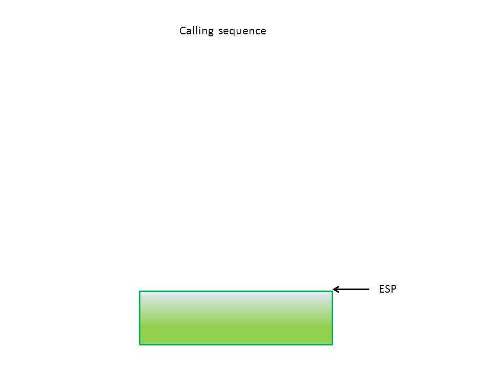 ESP Calling sequence