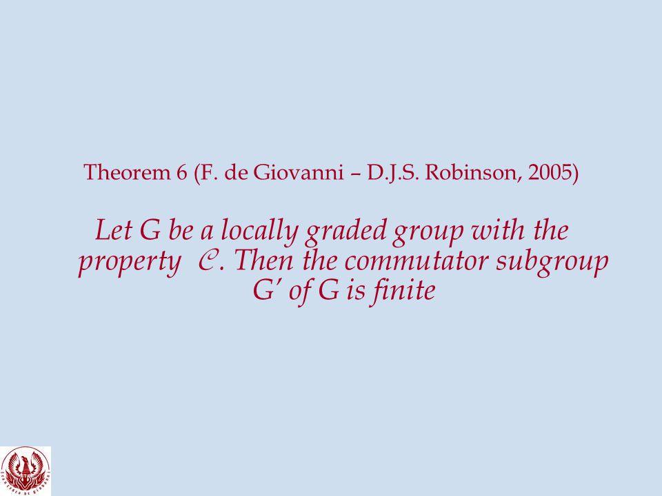 Theorem 6 (F. de Giovanni – D.J.S.