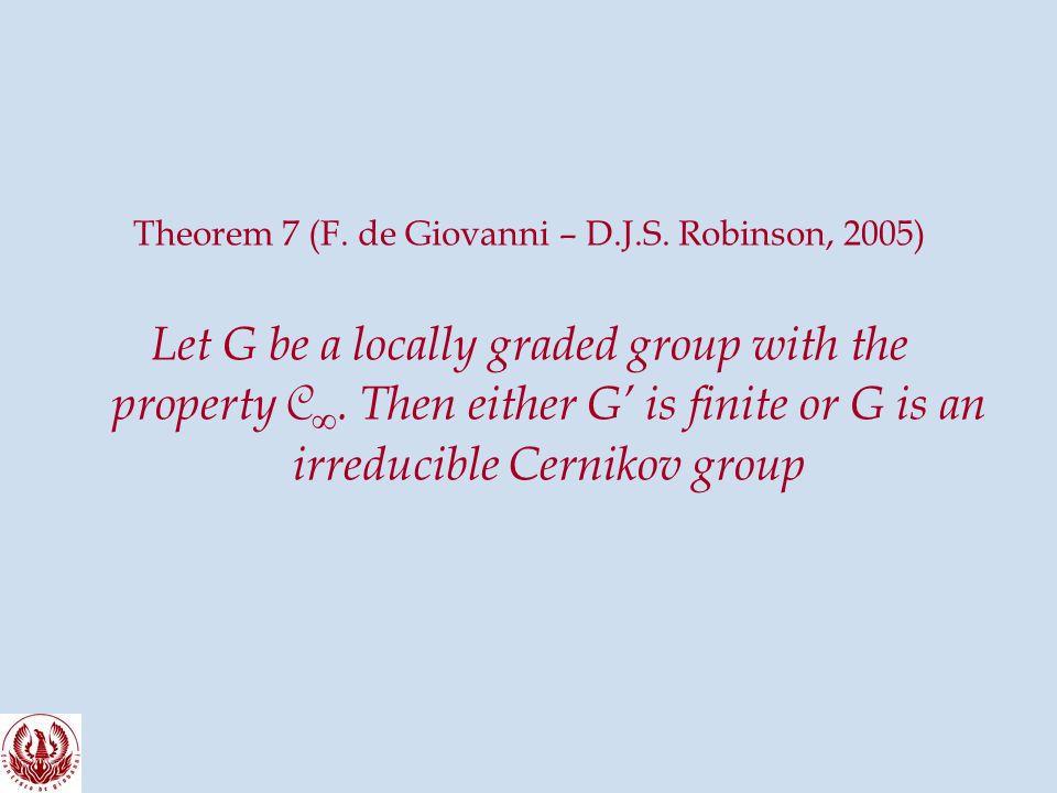 Theorem 7 (F. de Giovanni – D.J.S.