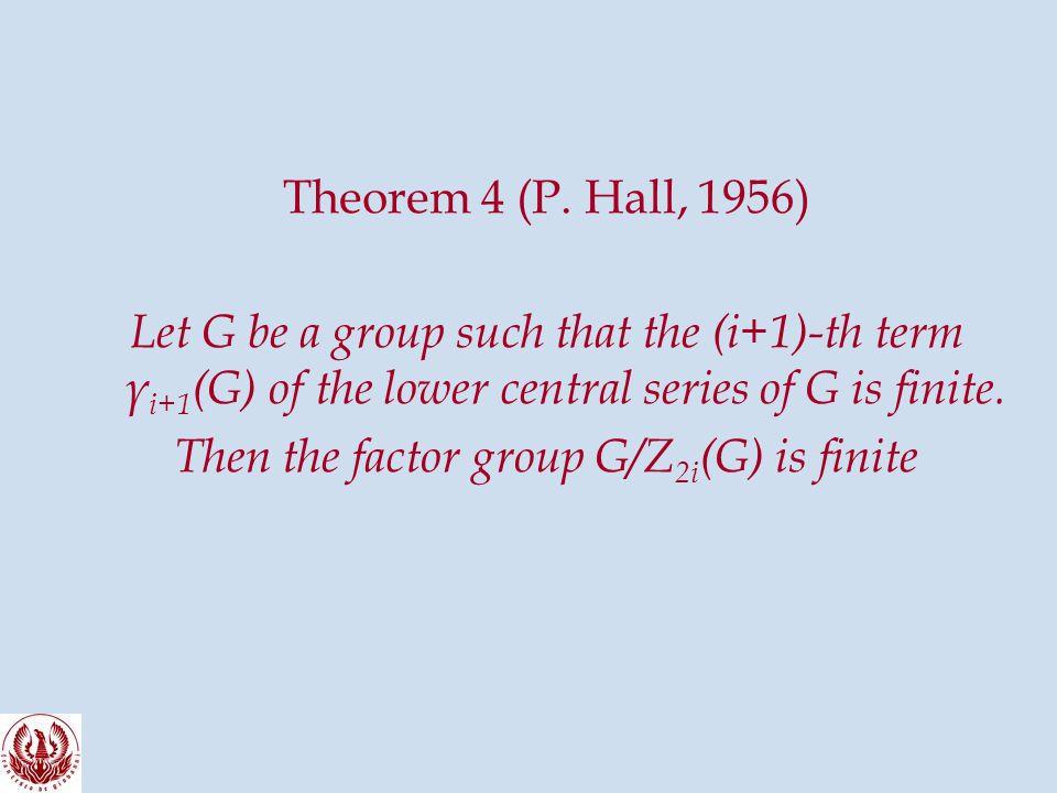 Theorem 4 (P.