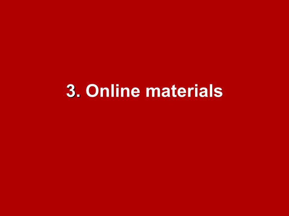 3. 3. Online materials