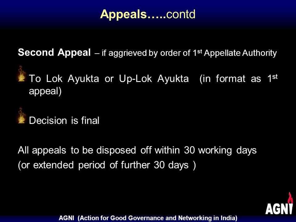 AGNI (Action for Good Governance and Networking in India) Penalties Rs.