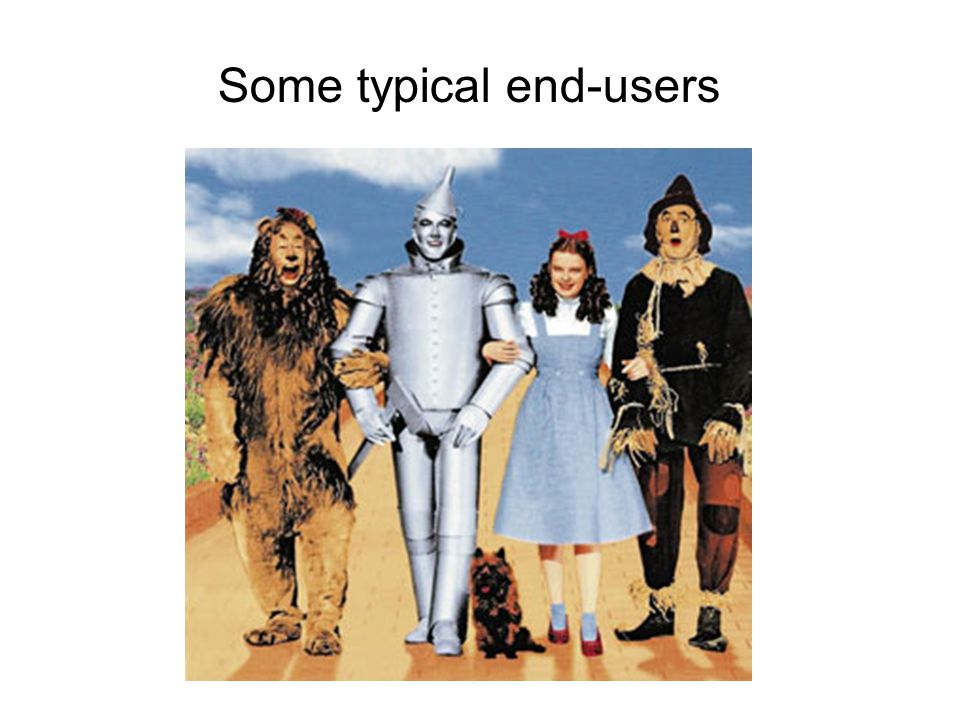 Some typical end-users