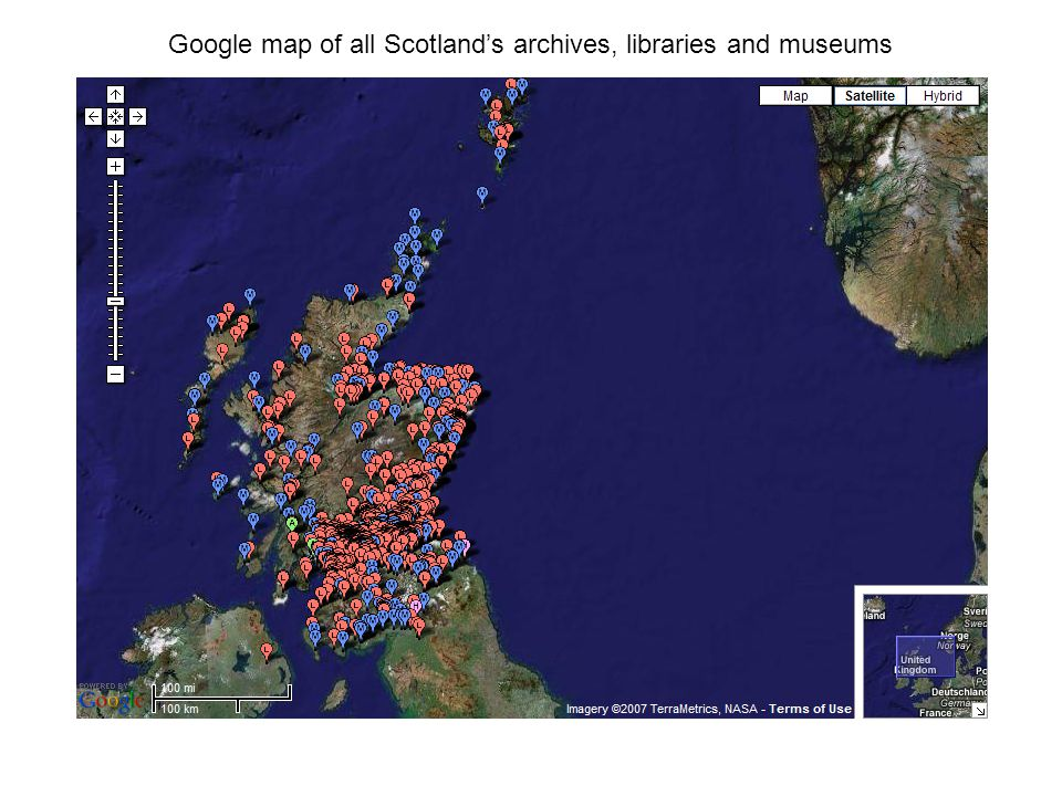 Locations of Robert Burns collections in Scotland