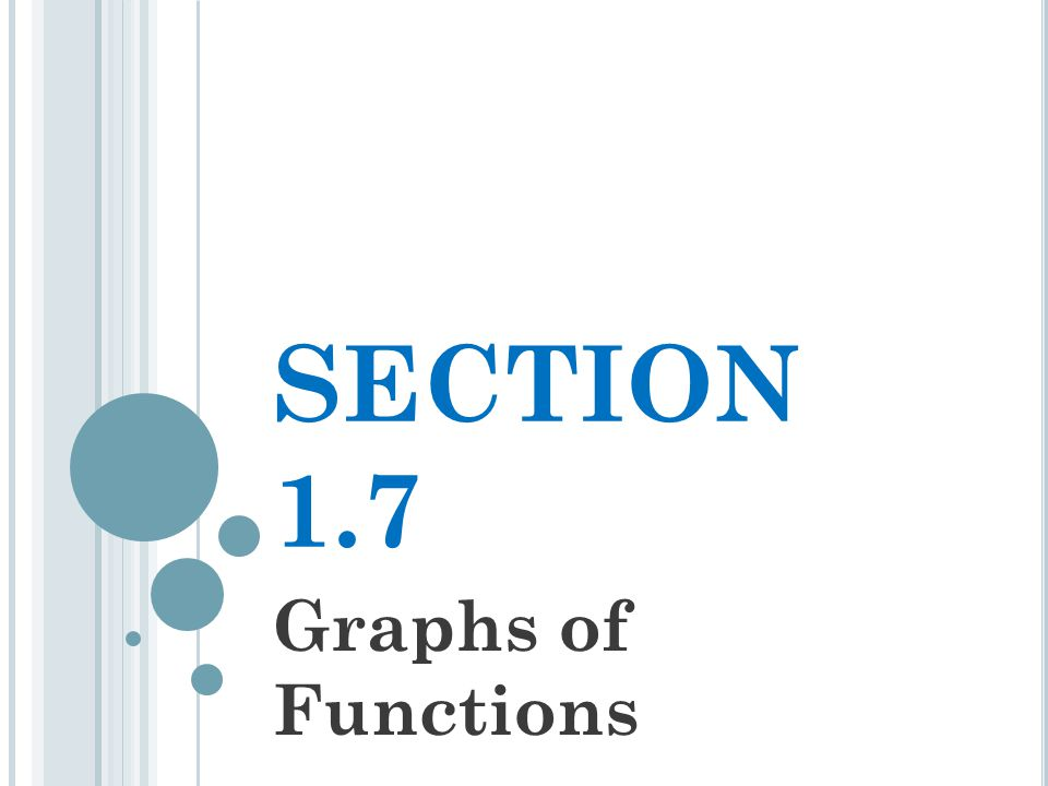 SECTION 1.7 Graphs of Functions