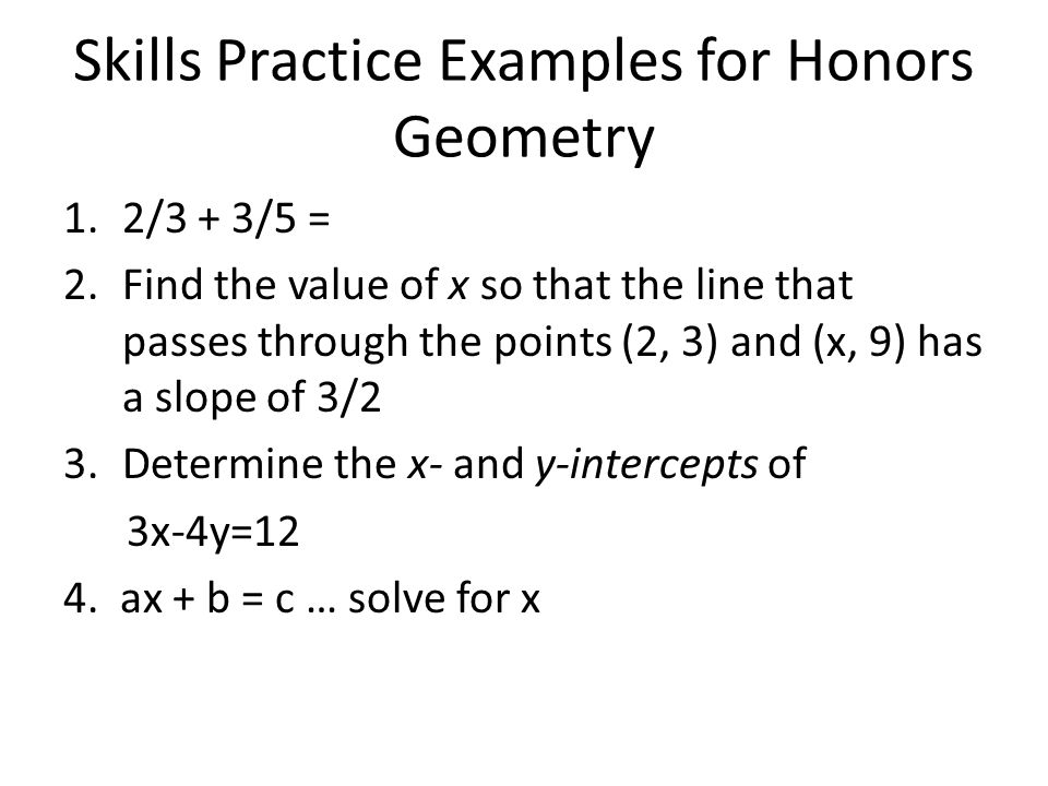 If you are currently in Honors Geometry If you earned a B- or better in Algebra I and a C+ or better in Honors Geometry for the first semester, you may take Honors Algebra II (1426).