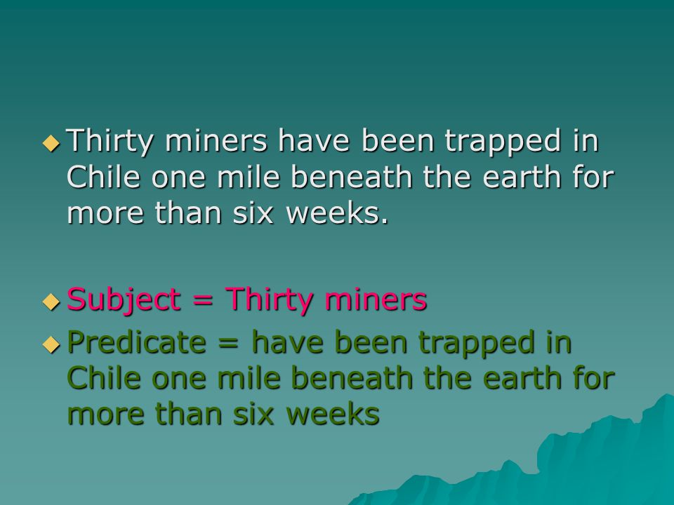 Thirty miners have been trapped in Chile one mile beneath the earth for more than six weeks.
