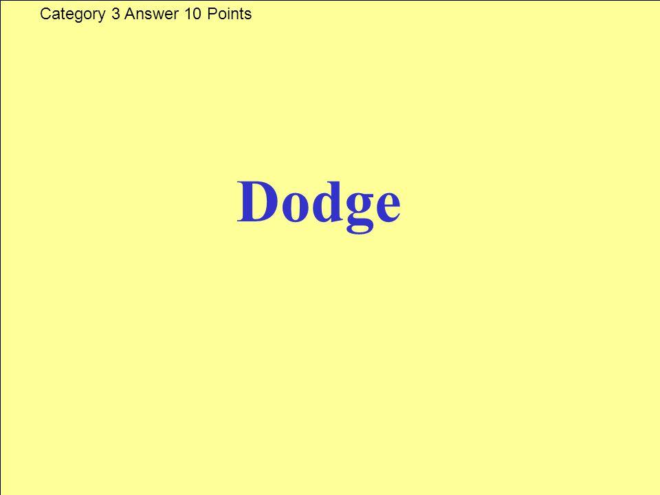 Cuel es esta marca Category 3 Question 10 Points Answer