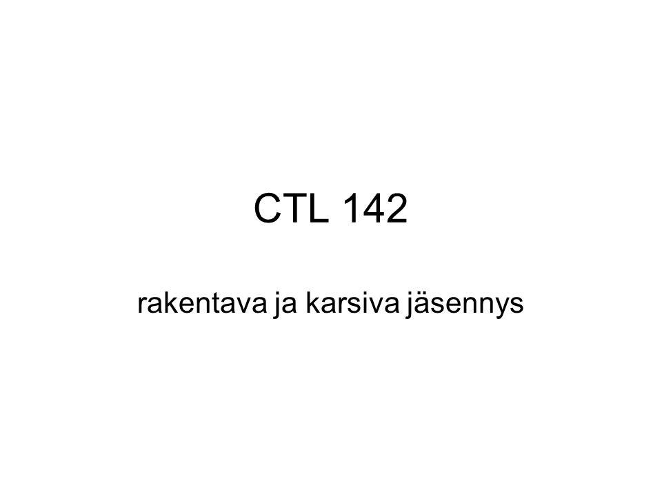 CTL 142 rakentava ja karsiva jäsennys