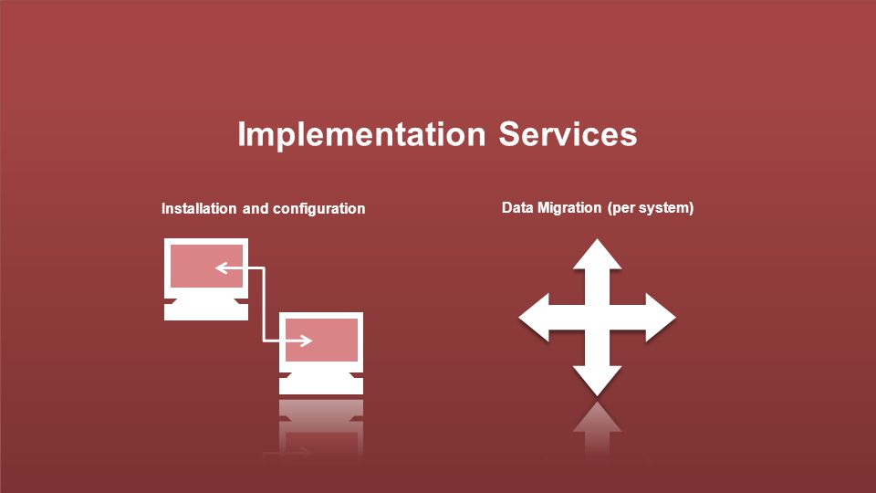 Implementation Services Installation and configuration Data Migration (per system)