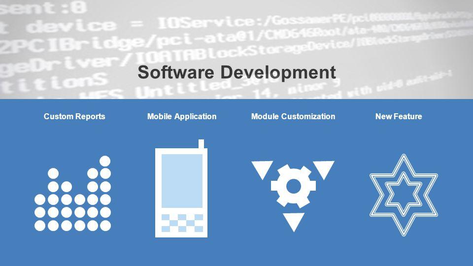 Software Development Custom ReportsMobile ApplicationModule CustomizationNew Feature
