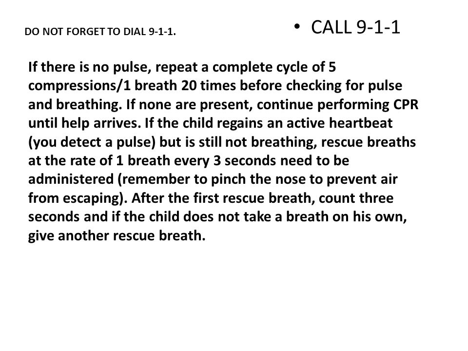 CHILD CPR REVIEW Children s CPR is given to anyone under the age of 8.