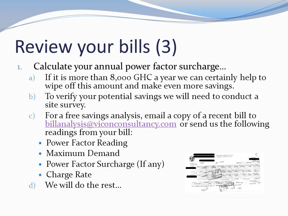 Review your bills (3) 1.