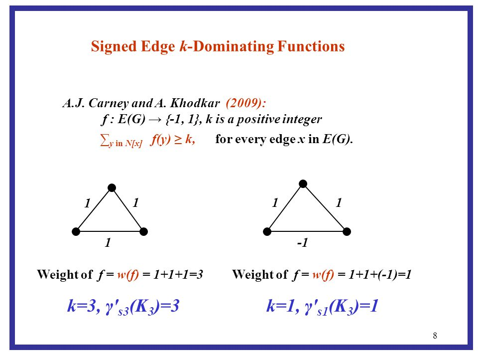 8 Signed Edge k-Dominating Functions A.J. Carney and A.