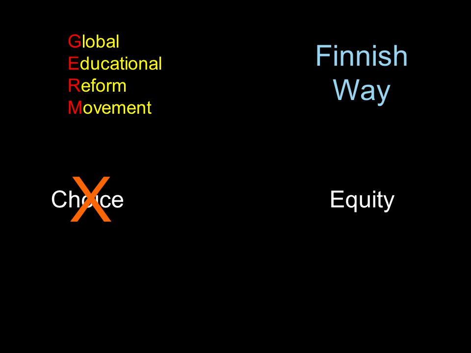 Foreword by Andy Hargreaves ChoiceEquity X Global Educational Reform Movement Finnish Way