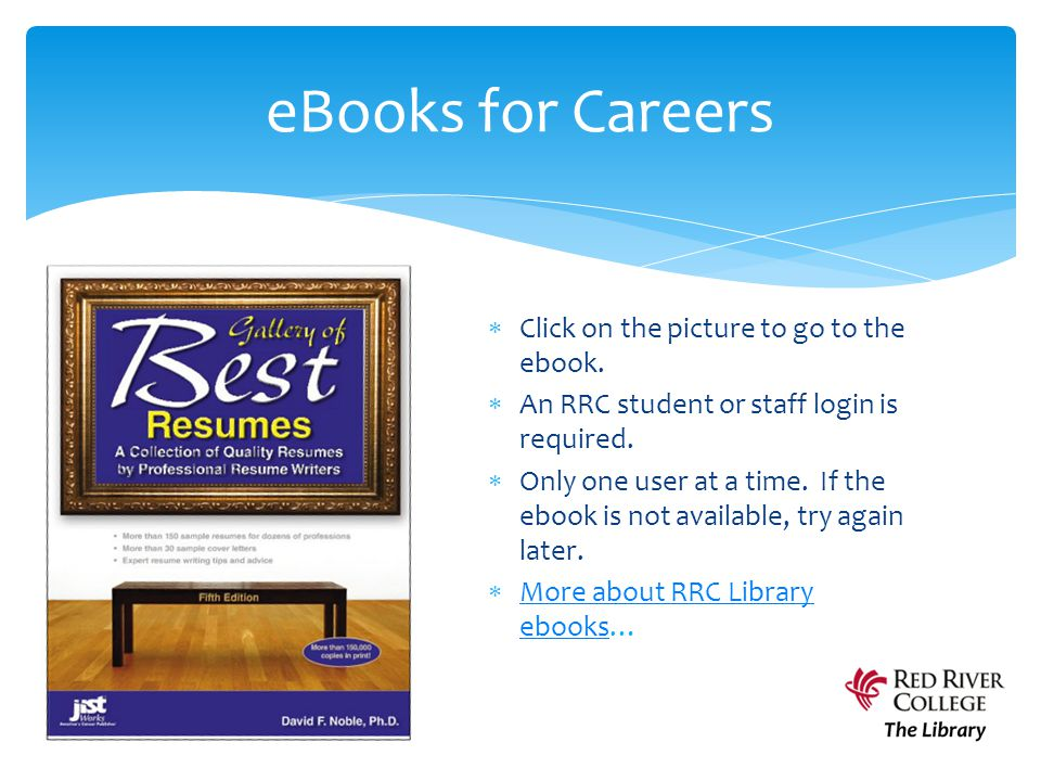  Click on the picture to go to the ebook. An RRC student or staff login is required.