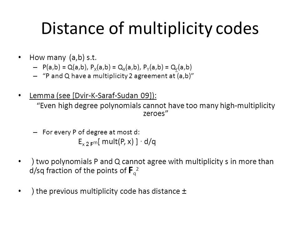 Multiplicity codes Fq2Fq2