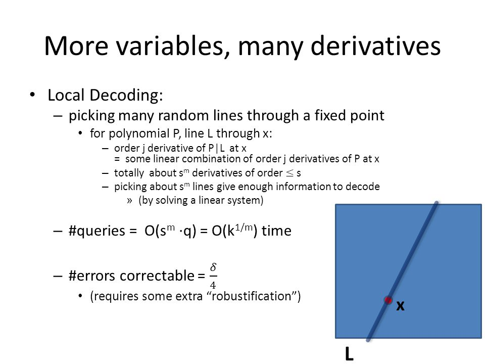 More variables, many derivatives