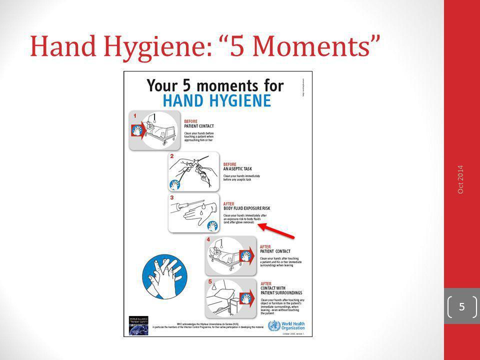 "Hand Hygiene: ""5 Moments"" Oct 2014 5"