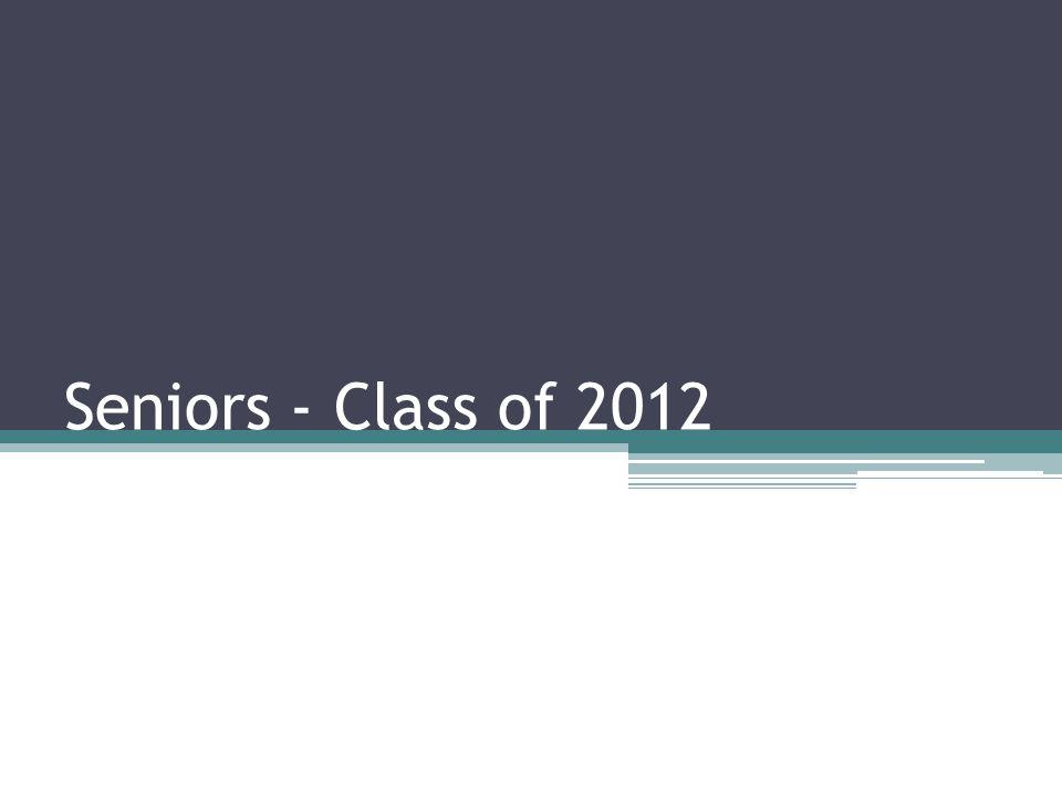 Seniors - Class of 2012