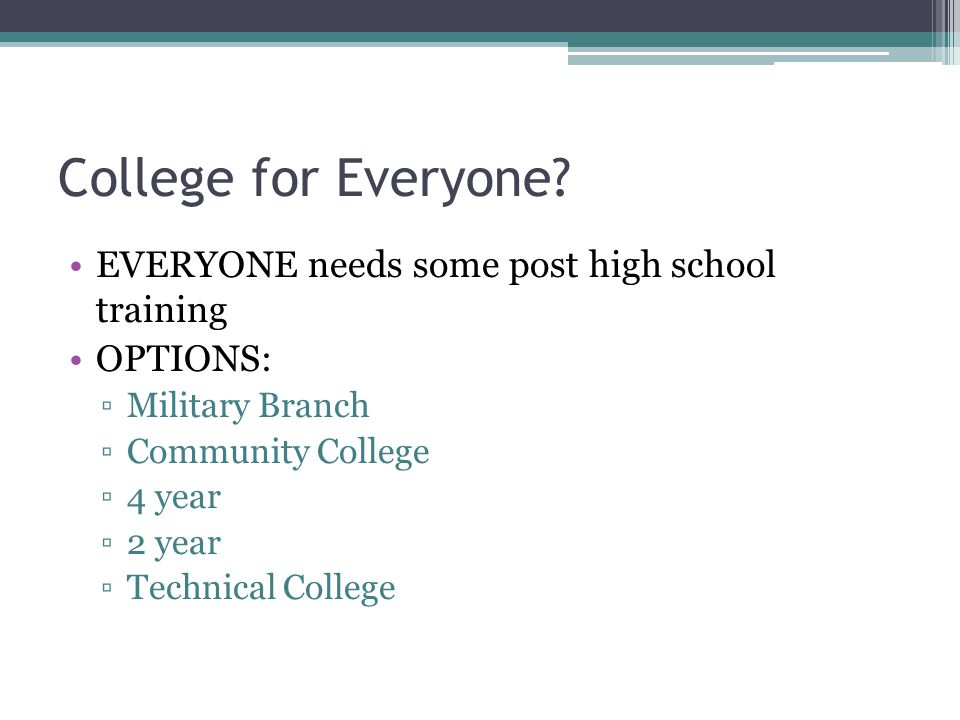 College for Everyone.