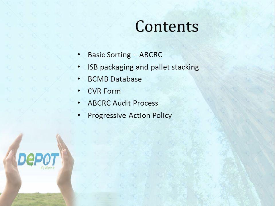 Basic Sorting - ABCRC Aluminum Cans PET HDPE Glass Bi-Metal