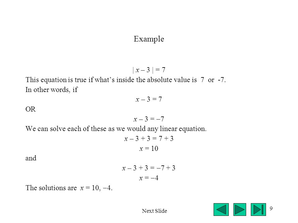 10 Practice Problems 1.Simplify (write without absolute value symbols)   3  .