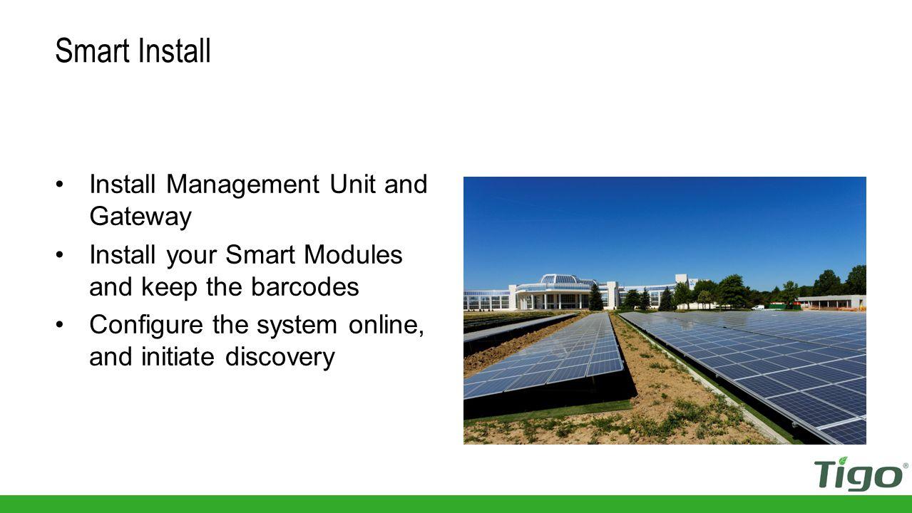 Enter inverter information Configure the System
