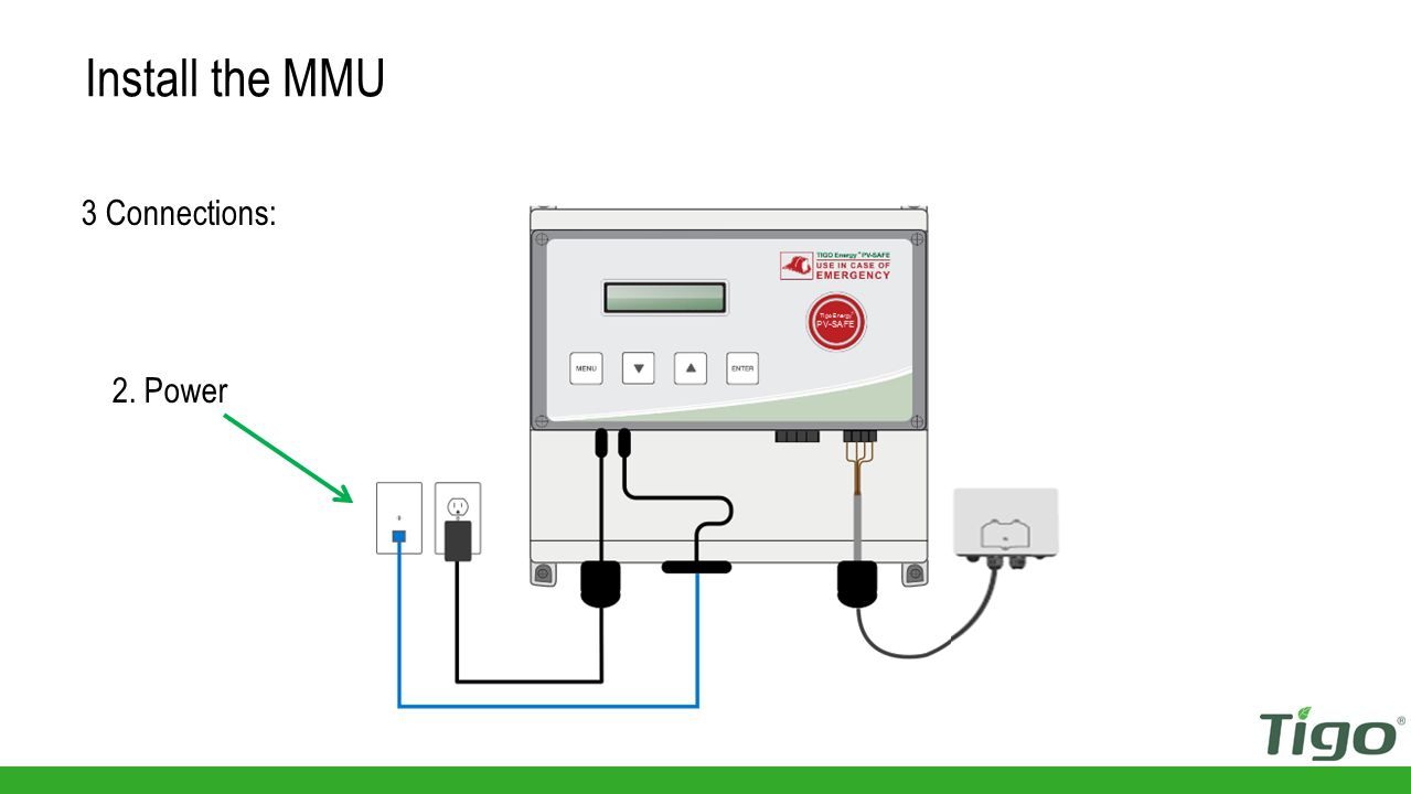 Install the MMU 3 Connections: 2. Power