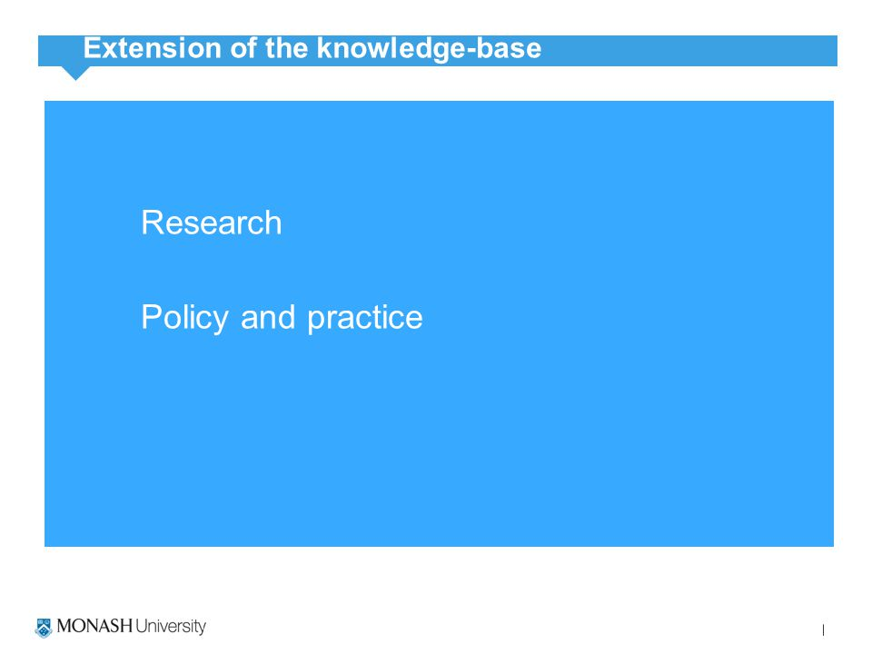 Research Policy and practice Extension of the knowledge-base