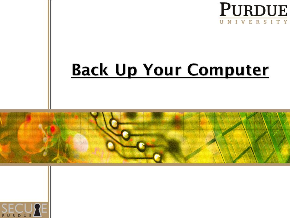 1 Back Up Your Computer