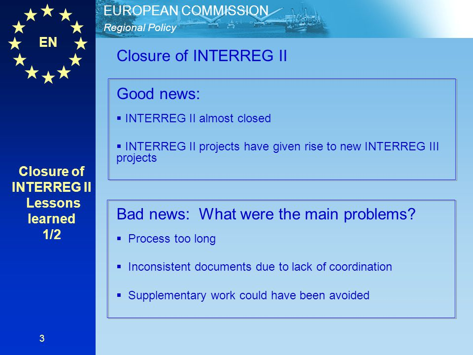 EN Regional Policy EUROPEAN COMMISSION 14 Who is involved.