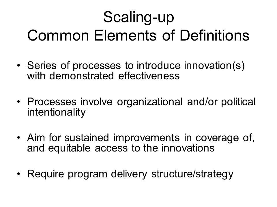 Classes of Innovation Discrete Multi-component and multi-level Paradigmatic