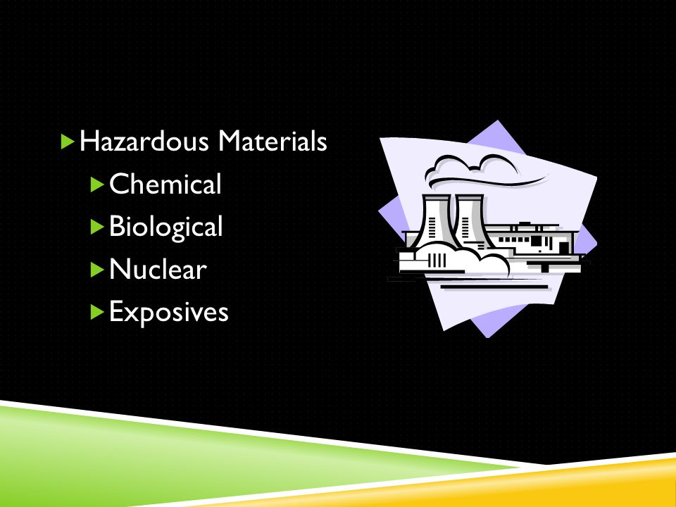  Hazardous Materials  Chemical  Biological  Nuclear  Exposives