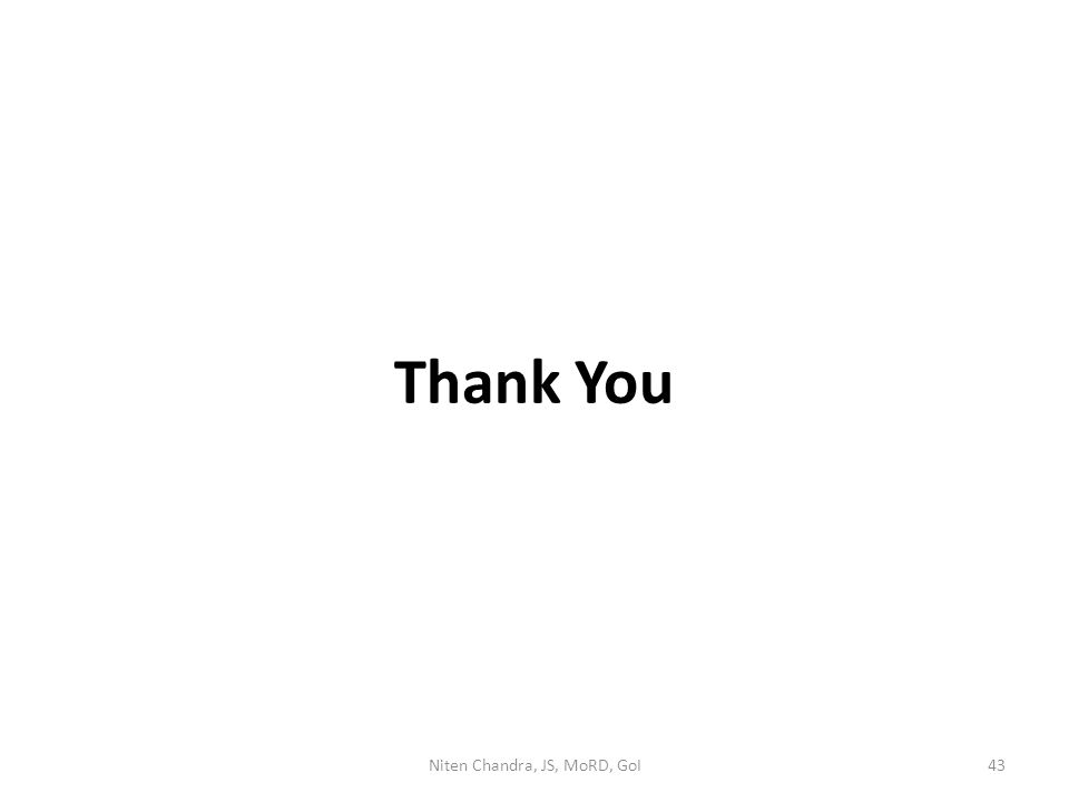 Thank You Niten Chandra, JS, MoRD, GoI43