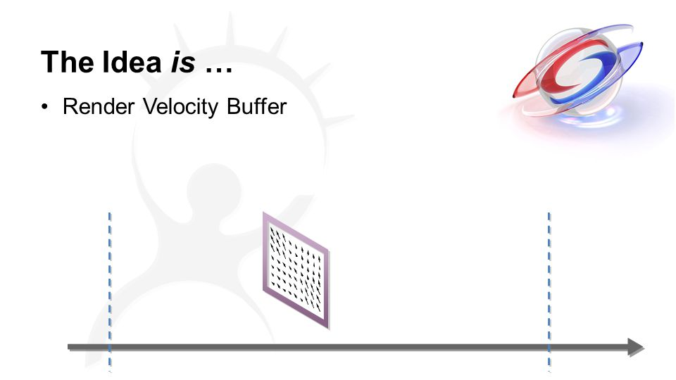The Idea is … Render Velocity Buffer