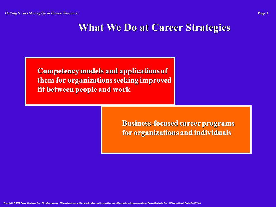 Copyright © 2002 Career Strategies, Inc. All rights reserved.